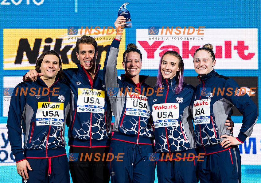 Best Team<br /> United States USA<br /> 13th Fina World Swimming Championships 25m <br /> Windsor  Dec. 11th, 2016 - Day06 Finals<br /> WFCU Centre - Windsor Ontario Canada CAN <br /> 20161211 WFCU Centre - Windsor Ontario Canada CAN <br /> Photo &copy; Giorgio Scala/Deepbluemedia/Insidefoto