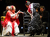 London, UK. 21.02.2018. Legendary flamenco artist La Chana makes a rare appearance at this year's Gala Flamenca with guest artists: Ángel Rojas, Antonio Canales, El Farru, Gema Moneo, 21-23 Feb 2018. Photo shows: La Chana, Gema Moneo. Photo - © Foteini Christofilopoulou.