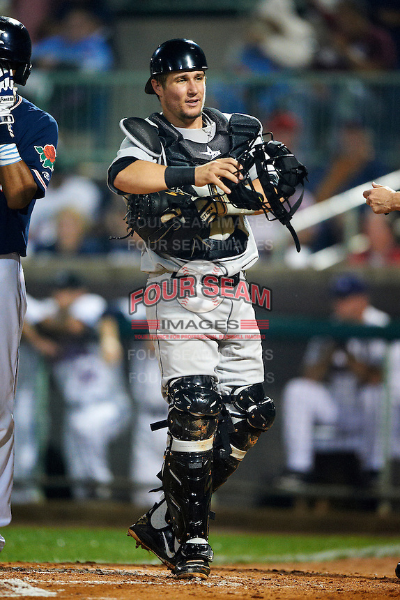 Tri-City ValleyCats catcher Tyler Heineman #26 during the NY-Penn League All-Star Game at Eastwood Field on August 14, 2012 in Niles, Ohio.  National League defeated the American League 8-1.  (Mike Janes/Four Seam Images)