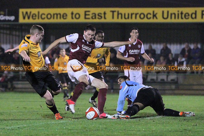 Rob Edmans scores the first goal for Chelmsford - East Thurrock United vs Chelmsford City - FA Cup 4th Qualifying Round Football at Rookery Hill - 23/10/12 - MANDATORY CREDIT: Gavin Ellis/TGSPHOTO - Self billing applies where appropriate - 0845 094 6026 - contact@tgsphoto.co.uk - NO UNPAID USE.