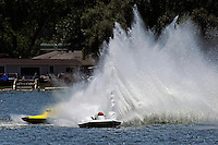 "(L to R): Kevin Lacey, GNH-52 ""Wanna Bee"" and Cal Phipps, GNH-41  (Grand National Hydroplane(s)"