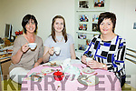 Liz Galwey, Blathanaid and Rebecca Reidy enjoying a cuppa at the Alzheimer's tea morning in Castleisland on Thursday
