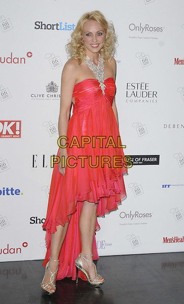 Camilla Dallerup  .attends the FiFI UK Fragrance Awards 2013 at The Brewery in London, England, UK, 16th May 2013..full length red strapless dress necklace diamonds.CAP/CAN.©Can Nguyen/Capital Pictures.