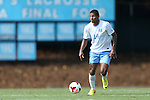 02 September 2013: North Carolina's Omar Holness (JAM). The University of North Carolina Tar Heels hosted the Coastal Carolina University Chanticleers at Fetzer Field in Chapel Hill, NC in a 2013 NCAA Division I Men's Soccer match. UNC won the game 4-0.