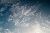 Altocumulus clouds over southern England in November.