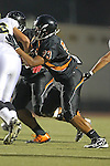 Beverly Hills, CA 09/23/11 - Jeraud Williams (Beverly Hills #73) in action during the Peninsula-Beverly Hills Varsity football game.