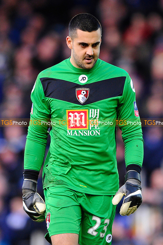 Adam Federici of AFC Bournemouth made a fine first half save during Portsmouth vs AFC Bournemouth, Emirates FA Cup Football at Fratton Park