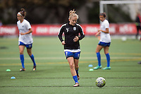 Seattle, Washington - Saturday May 14, 2016:  Seattle Reign FC defender Elli Reed (7) during warmups at Memorial Stadium on Saturday May 14, 2016 in Seattle, Washington. The match ended in a 1-1 draw