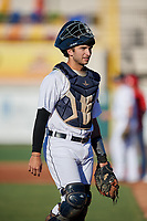 Lakeland Flying Tigers catcher Joey Morgan (33) during a Florida State League game against the Palm Beach Cardinals on May 22, 2019 at Publix Field at Joker Marchant Stadium in Lakeland, Florida.  Palm Beach defeated Lakeland 8-1.  (Mike Janes/Four Seam Images)