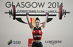 Wales Stephanie Owens in action during her session <br /> <br /> Photographer Ian Cook/Sportingwales<br /> <br /> 20th Commonwealth Games - Weightlifting -  Day 3 - Saturday 26th July 2014 - Glasgow - UK