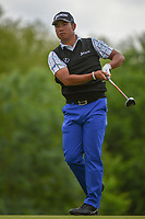 Hideki Matsuyama (JPN)  watches his tee shot on 4 during round 3 of the AT&T Byron Nelson, Trinity Forest Golf Club, Dallas, Texas, USA. 5/11/2019.<br /> Picture: Golffile | Ken Murray<br /> <br /> <br /> All photo usage must carry mandatory copyright credit (© Golffile | Ken Murray)