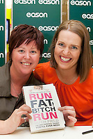 *** NO FEE PIC***.20/04/2012.Author Ruth Field signing copies of Run Fat B!tch Run for Suzann Byrne from City West.at Eason OConnell Street, Dublin..Photo: Gareth Chaney Collins