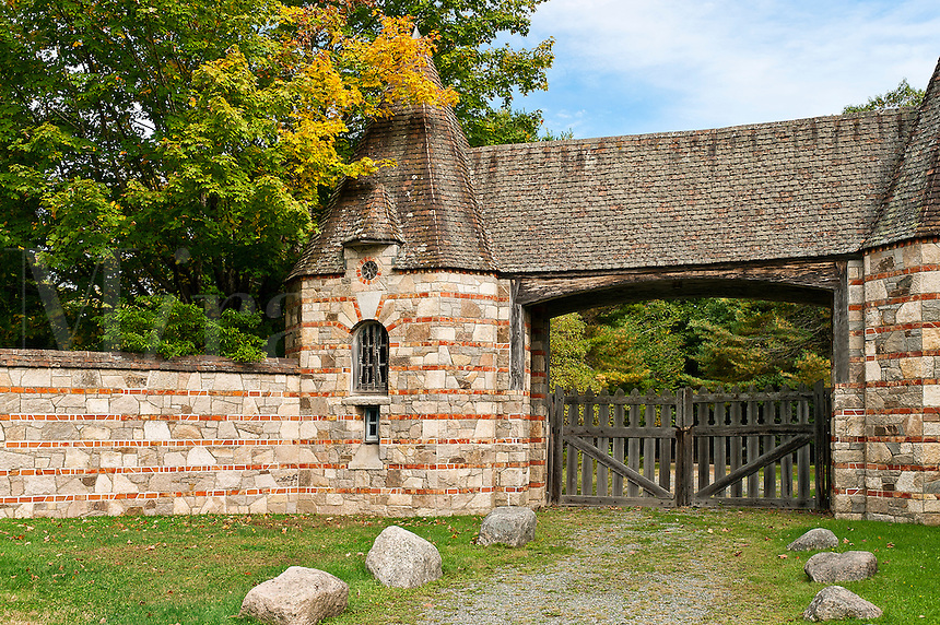 Brown's Mountain Gatehouse, Acadia National Park, Maine, ME, USA