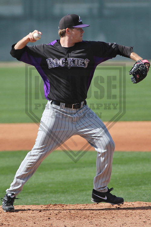 SCOTTSDALE - March 2013:   of the Colorado Rockies during a Spring Training workout on March 19, 2013 at Salt River Fields in Scottsdale, Arizona.  (Photo by Brad Krause). .