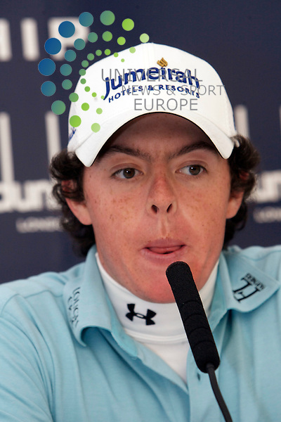 The Alfred Dunhill Golf Championship 2009 at The Old Course, St Andrews, Kingsbarns and Carnoustie.. .Young Irish golfer Rory McIlroy in his press congference ahead of   the Practise  Round of the Alfred Dunhill Golf Championship...Picture by Mark Davison/ Universal News & Sport