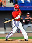 4 March 2011: Washington Nationals infielder Danny Espinosa in action during a Spring Training game against the Atlanta Braves at Space Coast Stadium in Viera, Florida. The Braves defeated the Nationals 6-4 in Grapefruit League action. Mandatory Credit: Ed Wolfstein Photo