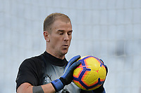 Joe Hart of Burnley with his eyes closed during West Ham United vs Burnley, Premier League Football at The London Stadium on 3rd November 2018