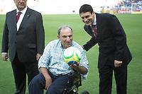 BELO HORIZONTE, MG, 13.04.2014 – CAMPEONATO MINEIRO 2014 – CRUZEIRO X ATLÉTICO-MG Osmar Santos , no estádio Minerão, na tarde deste domingo (13) (Foto: MARCOS FIALHO / BRAZIL PHOTO PRESS)