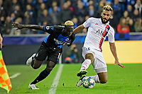 Krepin Diatta forward of Club Brugge battles for the ball with Eric Maxim Choupo-Moting forward of PSG  <br /> Bruges 22-10-2019 <br /> Club Brugge - Paris Saint Germain PSG <br /> Champions League 2019/2020<br /> Foto Panoramic / Insidefoto <br /> Italy Only
