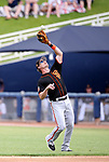 San Francisco Giants' Gordon Beckham makes a play in a spring training game against the Milwaukee Brewers in Phoenix, AZ, on Thursday, March 23, 2017.<br /> Photo by Cathleen Allison/Nevada Photo Source
