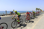 The peloton leave the coast and head for Granada after the start of Stage 4 of the La Vuelta 2018, running 162km from Velez-Malaga to Alfacar, Sierra de la Alfaguara, Andalucia, Spain. 28th August 2018.<br /> Picture: Ann Clarke | Cyclefile<br /> <br /> <br /> All photos usage must carry mandatory copyright credit (&copy; Cyclefile | Ann Clarke)