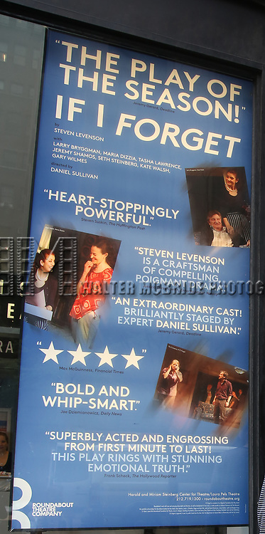 Theatre Marquee -  Behind the Scenes with BroadwayHD: A Digital Capture of  Roundabout Theatre Company's 'If I Forget' at Laura Pels Theatre on 4/28/2017 in New York City.