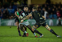 Harlequins' Gabriel Ibitoye in action during todays match<br /> <br /> Photographer Bob Bradford/CameraSport<br /> <br /> European Rugby Heineken Champions Cup Group C - Bath Rugby v Harlequins - Friday 10th January 2020 - The Recreation Ground - Bath<br /> <br /> World Copyright © 2019 CameraSport. All rights reserved. 43 Linden Ave. Countesthorpe. Leicester. England. LE8 5PG - Tel: +44 (0) 116 277 4147 - admin@camerasport.com - www.camerasport.com