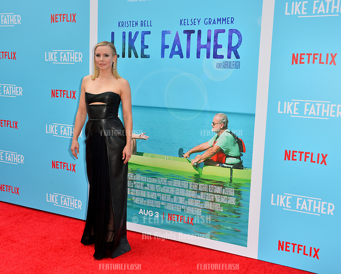 Kristen Bell at the Los Angeles premiere of &quot;Like Father&quot; at the Arclight Theatre, Los Angeles, USA 31 July 2018<br /> Picture: Paul Smith/Featureflash/SilverHub 0208 004 5359 sales@silverhubmedia.com