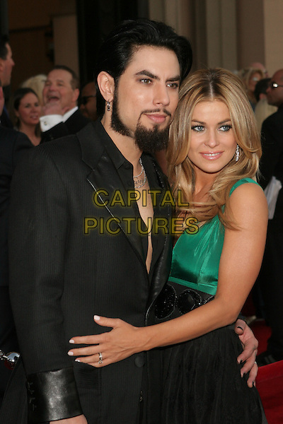 DAVE NAVARRO & CARMEN ELECTRA.33rd Annual American Music Awards - Arrivals held at the Shrine Auditorium. Los Angeles, California..USA, United States..22nd November 2005 .Ref:ADM/ZL.half length with together engagement ring jewellery black open shirt goatee beard facial hair.www.capitalpictures.com.sales@capitalpictures.com.© Capital Pictures..