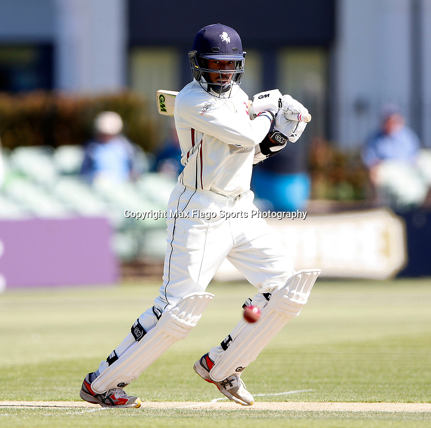 Daniel Bell-Drummond bats for Kent during the Specsavers County Championship Div 2 game between Kent and Sussex at the St Lawrence Ground, Canterbury, on May 11, 2018