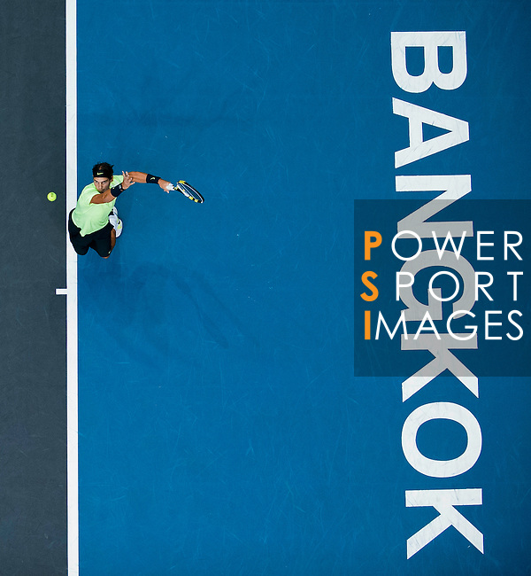 Rafael Nadal of Spain in action during the Day 7 of the PTT Thailand Open at Impact Arena on October 1, 2010 in Bangkok, Thailand. Photo by Victor Fraile / The Power of Sport Images