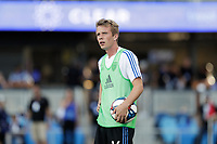 SAN JOSE, CA - AUGUST 03: Jackson Yueill  prior to a Major League Soccer (MLS) match between the San Jose Earthquakes and the Columbus Crew on August 03, 2019 at Avaya Stadium in San Jose, California.