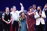 Corey Cott, Andy Blankenbuehler, Laura Osnes, Beth Leavel and cast during the Broadway Opening Night Curtain Call Bows of 'Bandstand' at the Bernard B. Jacobs Theatre on 4/26/2017 in New York City.