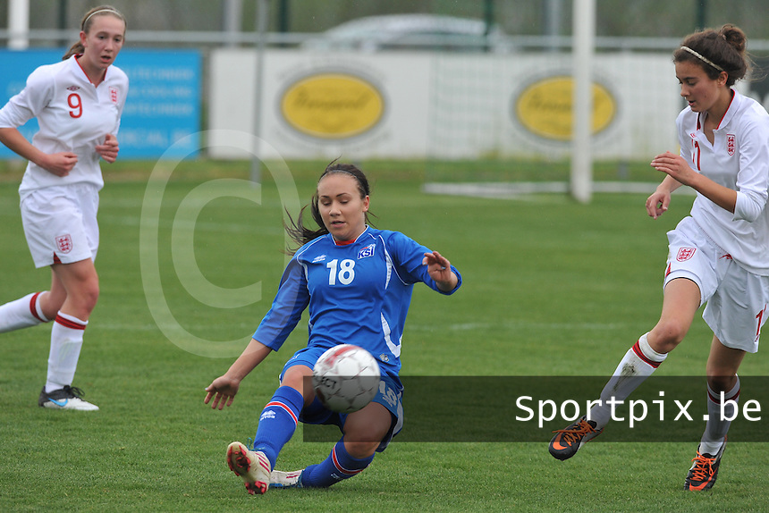 UEFA Women's Under 17 Championship - Second Qualifying round - group 1 : England - Iceland : .Rakel Einarsdottir.foto DAVID CATRY / Vrouwenteam.be