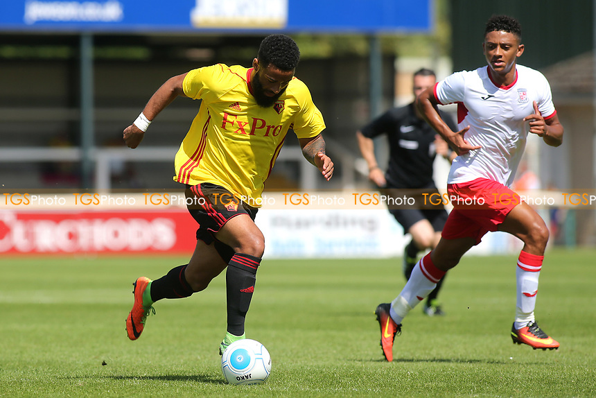 Alex Jakubiak of Watford races upfield during Woking vs Watford, Friendly Match Football at The Laithwaite Community Stadium on 8th July 2017