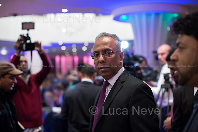 Lutfur Rahman (Mayor of Tower Hamlets).<br /> <br /> London, 12/11/2014. Today, an &quot;emergency meeting&quot; was called in Tower Hamlets to discuss the ongoing dispute between the Secretary of State for Communities and Local Government Erick Pickles (Conservative Member of Parliament for Brentwood) and the twice elected Mayor of Tower Hamlets Lutfur Rahman. Less than 2 weeks ago Pickles defined Tower Hamlets as a &lt;&lt;rotten borough&gt;&gt; and &lt;&lt;told the Commons that Rahman had dispensed public money like a &quot;medieval monarch&quot; and oversaw an administration that was &quot;at best dysfunctional, at worst riddled with cronyism and corruption&quot;&gt;&gt; (source the Guardian http://bit.ly/1x1u7Z2). So the Communities Secretary decided to take over the administration of the East London council for the next two years actually commissioning the Council. From the press release of the organisers of the meeting: &lt;&lt;Eric Pickles this week ordered his attack dogs into Tower Hamlets despite his own report finding no evidence of fraud and corruption. His councils and government are ridden with corruption- it's not fairness he cares about but undermining our community. The Tories hate Tower Hamlets because it stood alone in putting residents before big business and funding our future&gt;&gt;.<br /> <br /> To sign the petition please click here: http://chn.ge/1xyLf8x