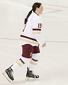 Danielle Doherty (BC - 19) -  The Boston College Eagles defeated the visiting Boston University Terriers 5-0 on BC's senior night on Thursday, February 19, 2015, at Kelley Rink in Conte Forum in Chestnut Hill, Massachusetts.