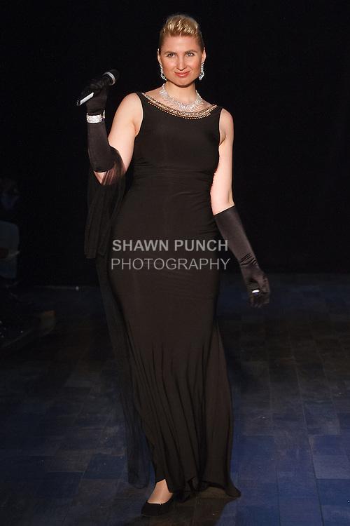 Soprano singer Katrin Bulke performs at 26 Bridge Street on May 6, 2016, during Fashion Week Brooklyn's 10 year anniversary.