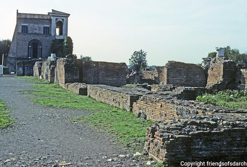 Italy: Rome--Ruins, Palace Foundations, Palatine Hill. Photo '82.