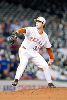 Texas Longhorns starting pitcher Dillon Peters #32 in action against the Rice Owls at Minute Maid Park on February 28, 2014 in Houston, Texas.  The Longhorns defeated the Owls 2-0.  (Brian Westerholt/Four Seam Images)
