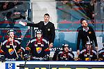 Stockholm 2014-03-27 Ishockey Kvalserien Djurg&aring;rdens IF - R&ouml;gle BK :  <br /> Djurg&aring;rdens tr&auml;nare Hans S&auml;rkij&auml;rvi gestikulerar uppgivet bakom Djurg&aring;rdens spelare<br /> (Foto: Kenta J&ouml;nsson) Nyckelord:  DIF Djurg&aring;rden R&ouml;gle RBK Hovet depp besviken besvikelse sorg ledsen deppig nedst&auml;md uppgiven sad disappointment disappointed dejected