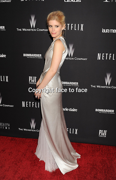 BEVERLY HILLS, CA- JANUARY 12: Actress Kate Mara attends The Weinstein Company &amp; Netflix 2014 Golden Globes After Party held at The Beverly Hilton Hotel on January 12, 2014 in Beverly Hills, California.<br />