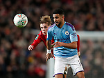 Riyad Marhez of Manchester City torments Brandon Williams of Manchester United during the Carabao Cup match at Old Trafford, Manchester. Picture date: 7th January 2020. Picture credit should read: Darren Staples/Sportimage