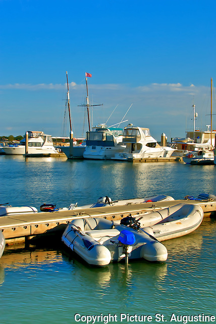 Dinghy Dock at the St. Augustine Municipal Marina in historic downtown St. Augustine, Florida