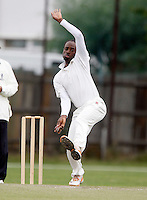 K. Drummond bowls for South Hampstead during the Middlesex County League Division Three game between South Hampstead and Ickenham at Milverton Road, Willesden Green on Saturday Aug 20, 2011