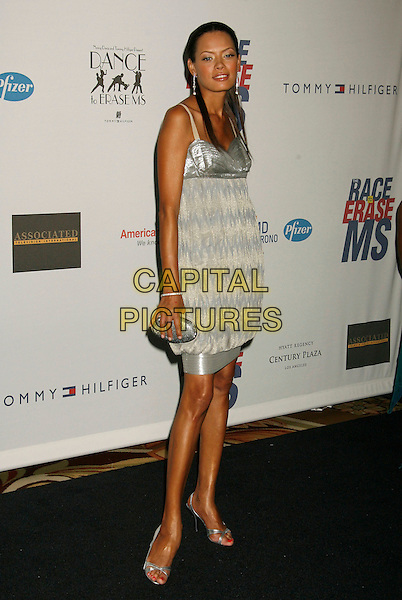 "KEISHA WHITAKER.14th Annual Race to Erase MS Themed ""Dance to Erase MS"" held at the Century Plaza Hotel, Century City, California, USA, 13 April 2007..full length grey silver dress.CAP/ADM/RE.©Russ Elliot/AdMedia/Capital Pictures."