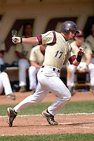 Boston College Eagles INF Mickey Wiswall in action vs. NC Tar Heels at Shea Field March 28, 2009 in Chestnut Hill, MA (Photo by Ken Babbitt/Four Seam Images)