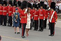 Ottawa (ON) CANADA, July 1st, 2007 -<br /> <br /> Michaelle Jean Governor General review the<br /> Black Watch regiment<br />  near the Parliament during<br /> Canada day celebration in the national capital.<br /> photo : (c)  Michel Karpoff - Images Distribution