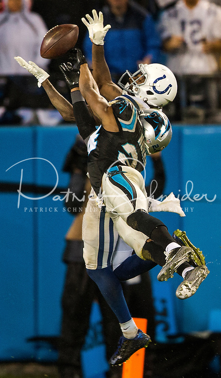Carolina Panthers vs. The Indianapolis Colts during their NFL game Sunday night November 4, 2016  at Bank of America Stadium in Charlotte, North Carolina.<br /> <br /> Charlotte Photographer: PatrickSchneiderPhoto.com