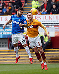 07.04.2019 Motherwell v Rangers: Daniel Candeias and Tom Aldred